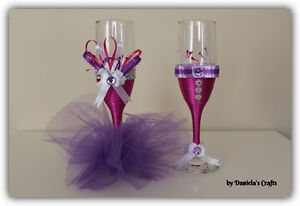 Hand made champagne glasses for weddings and special occasions Kitchener / Waterloo Kitchener Area image 9