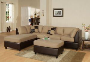 FREE SHIPPING in Kelowna! Sectional Sofa with Reversible Chaise