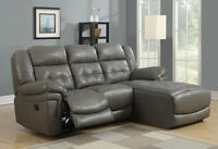 BONDED LEATHER RECLINER LOUNGER / SOFA / COUCH