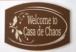 Custom Carved Wood House Cottage Camp Signs