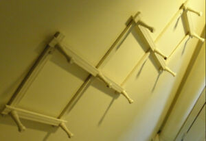Hall mounted  coat rack from fifties or sixties