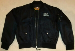 GENUINE HARLEY-DAVIDSON 100% NYLON BOMBER EMBROIDERED JACKET