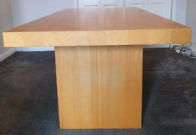 Housing units oak wood vaneer table 180cm by 90cm open to offers