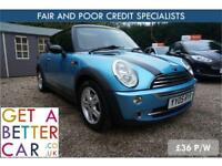 MINI COOPER 1.6 - 05 REG - 66K - £36 PW - FAIR & BAD CREDIT
