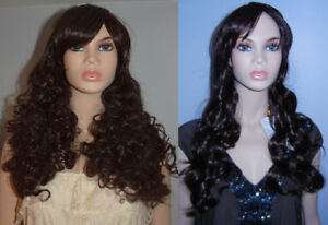 NEW WITH TAGS: DELUXE Dark Brown Curly Cosplay Wigs