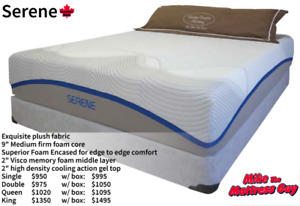 GEL MEMORY FOAM MATTRESSES AND BOXES- SLEEP COOLER WITH MIKE!