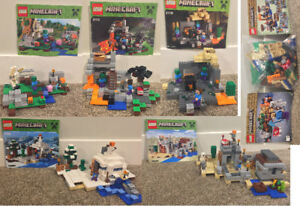 Six Minecraft Lego Sets For Sale