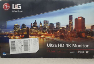 New In Box - LG 27 inch Ultra HD 4K Computer Monitor