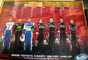 Toyota Busch Stewart Autographed Hand Signed K Wallace Poster