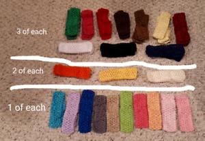 46 brand new crochet style baby headbands