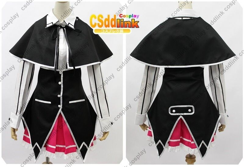 High School DxD long sleeved black school Uniform Cosplay Costume