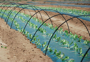"129x 60"" pvc hoops for row cover insect netting etc."