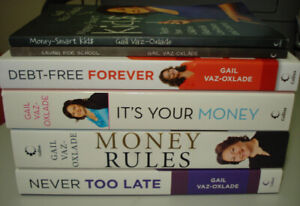 BRAND NEW money management books by Gail Vaz-Oxlade (set of 6)