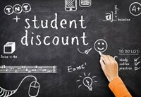 STUDENT DISCOUNT...20% Every Thursday!