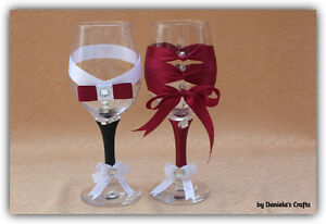 Hand made champagne glasses for weddings and special occasions Kitchener / Waterloo Kitchener Area image 3