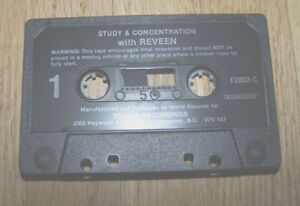 Srudy & Concentration with Reveen Cassette Tape (Excellent Condi