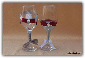Hand made champagne glasses for weddings and special occasions Kitchener / Waterloo Kitchener Area image 4