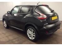 2014 BLACK NISSAN JUKE 1.2 DIG-T ACENTA PETROL HATCHBACK CAR FINANCE FR £29 PW