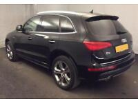 2015 BLACK AUDI Q5 2.0 TDI 177 QUATTRO S LINE + DIESEL MAN CAR FINANCE FR 75 PW