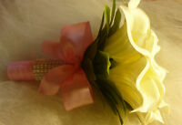 White & Pink Wedding Bouquet Calla Lily Flowers.