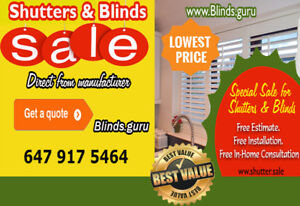 Shutter and blinds special sale!