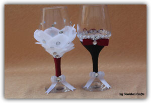 Hand made champagne glasses for weddings and special occasions Kitchener / Waterloo Kitchener Area image 2