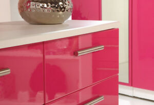 High Gloss Kitchen cabinets and vanities