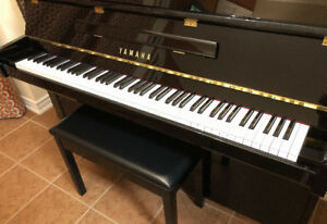 "YAMAHA B1 PE 43"" Upright Piano in polished ebony with bench"