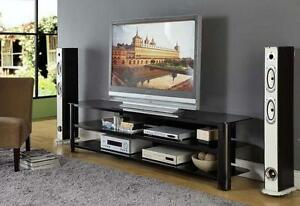 InnovEx Oxford 83-inch Black TV Stand NEW