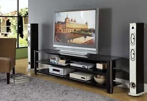 InnovEx Oxford 83-inch Black TV Stand NEW
