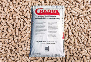 40-pound Crabbe Wood Pellet Bags with FREE DELIVERY across PEI