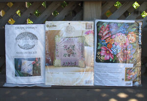 Pillow / picture  kits( needle point and crewel designs)
