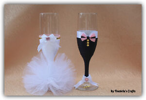 Hand made champagne glasses for weddings and special occasions Kitchener / Waterloo Kitchener Area image 7