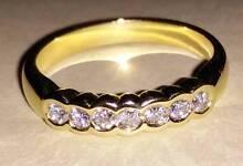 18ct yellow gold diamond set ring Narrandera Narrandera Area Preview