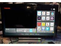 "TOSHIBA 24"" SMART DVD LED WIFI TV model:24D3753DB"
