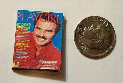 (Miniature Dollhouse  Barbie 1/12 Scale Book PlayGirl  Play Girl Burt Reynolds )
