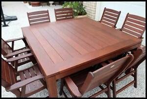 "Quality (9 pce) ""KASULE""  KWILA OUTDOOR DINING SET- Near new!! Melbourne CBD Melbourne City Preview"