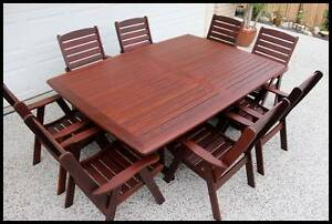 "OUTDOOR FURNITURE SALE! - ""Studio"" 9 PCE Kwila dining setting Melbourne CBD Melbourne City Preview"