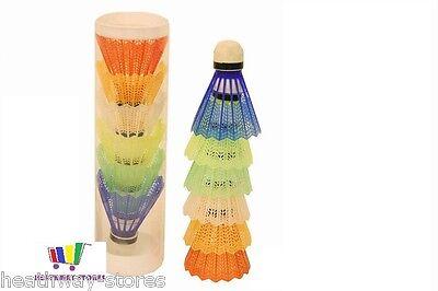 3 X  6 COLOURED BADMINTON SHUTTLECOCKS PLASTIC SPORT FUN GAME TOY KIDS NEW GIFT