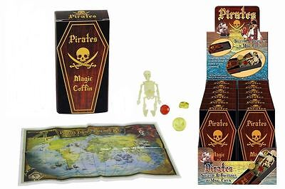 PIRATE SKELETON IN MAGIC COFFIN Toys Joke Boys Gift Present Birthday Box Skull