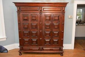 Magestic solid wood Armoire for main floor - 75 W (over 6 feet wide) x 25.5D x 79H (6.5 feet tall)