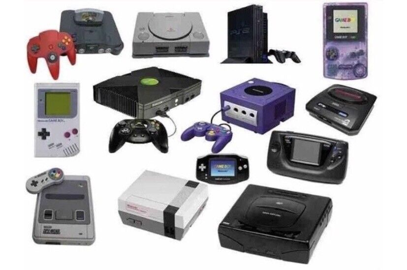 old game consoles image collections
