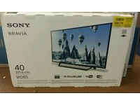"""Sony 40"""" LED smart wifi built in hd free view usb media player"""