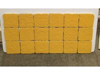 Yellow ceramic kitchen tiles, 10 x 10 cm £10 per Square metre