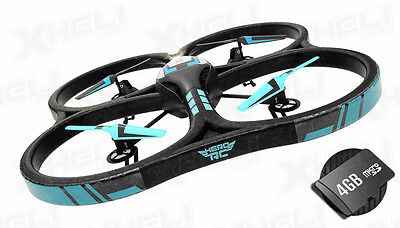 """Leading man RC XQ5 V626 UFO Drone w/Camera Quadcopter Large 21.50"""" Size GoPro Mountable"""