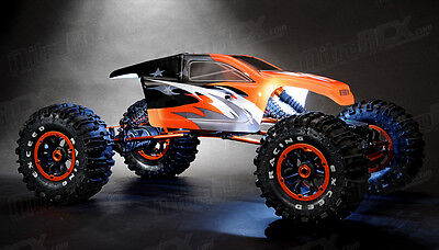 Exceed RC 1/8 2.4Ghz Mad Torque RC Rock Crawler Ready to Run ORANGE w/LED Lights