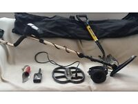 Fisher F5 Metal Detector with additional deep search coil and Bullseye Pinpoint Probe II + More