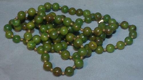 """Bakelite beads GREEN vintage 45"""""""