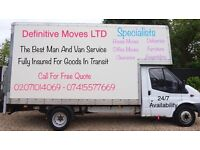 London's No 1 Man And Luton Van With Tail Lift House Removals, Deliveries ,Clearance And Piano Move