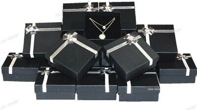 48pc Jewelry Boxes Black Necklace Big Gift Boxes Store Large Jewelry Gift Boxes